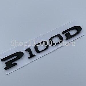 Image 3 - P75D P85D P90D P100D Underline ABS Letters Emblem for Tesla Model 3 Model X Model S Car Styling Trunk Badge Sticker Red Black