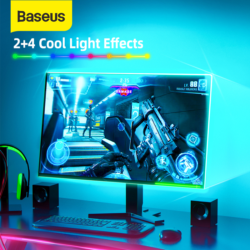 Baseus USB LED Strip Light RGB 5050 LED Strip Gaming Light Changeable USB Switch Gadget TV Desktop Screen Colorful Back Light