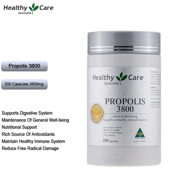 цена на Healthy Care Ultra Premium Propolis 3800mg 200Capsules Vitamins Minerals Antioxidants General well-being Immune System Health