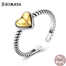 Gomaya 925 пробы Серебряное кольцо в форме сердца для Для женщин