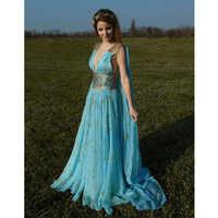 Heiße Frauen Cosplay Kostüme Kleid Mutter der Drachen Game of Thrones Daenerys Targaryen Maxi Kleid Kostüm Party Clubwear Kostüme