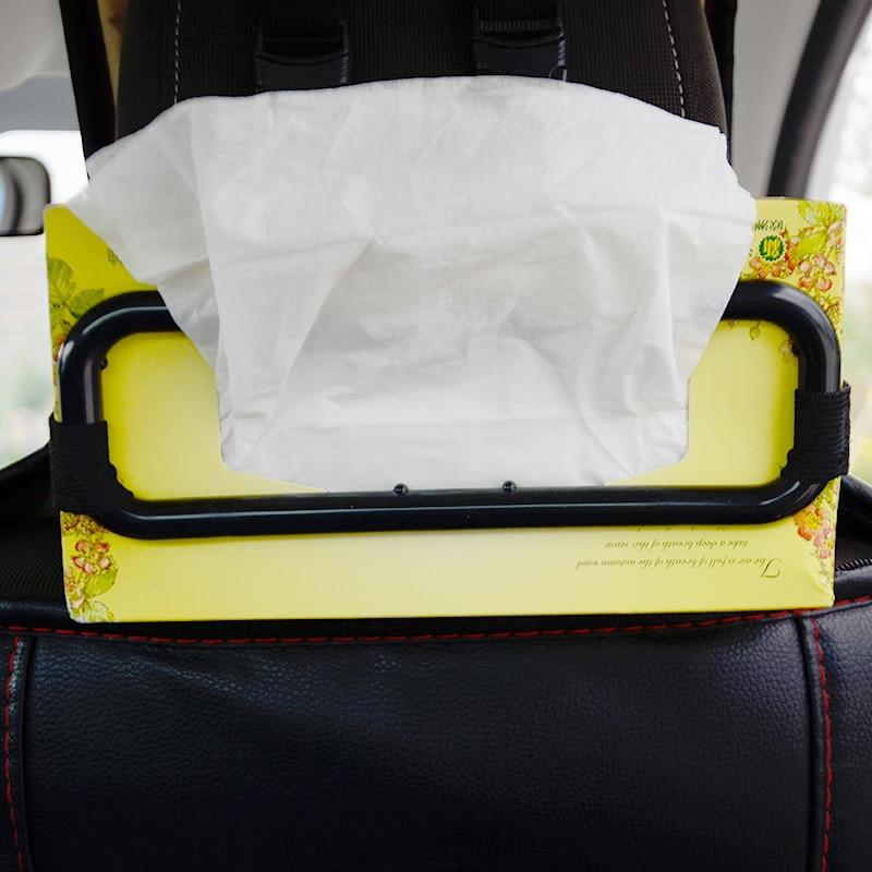 Voiture pare-soleil boîte à mouchoirs sac de tissu fixation cadre voiture chaise arrière porte-serviettes en papier véhicule Auto produits SUV voiture accessoires