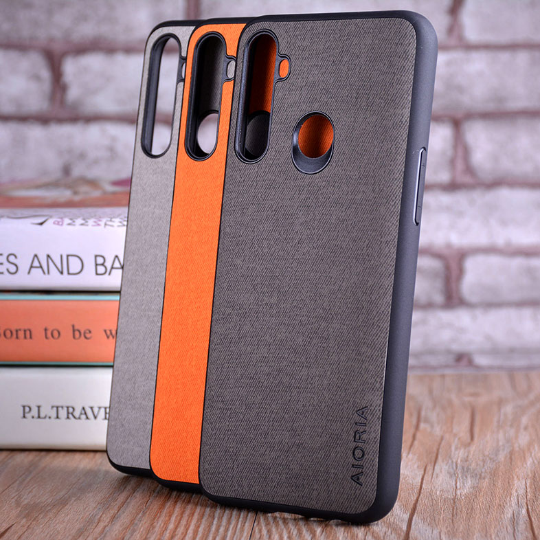 Case for OPPO Realme 5 5 pro coque Luxury textile Leather skin soft TPU hard PC phone cover for OPPO Realme 5 5 pro case funda