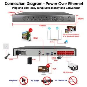Image 4 - HKIXDISTE H.265 슈퍼 HD 16CH 5MP 8CH 4K POE 보안 카메라 시스템 키트 POE IP 카메라 야외 cctv 비디오 감시 NVR 세트