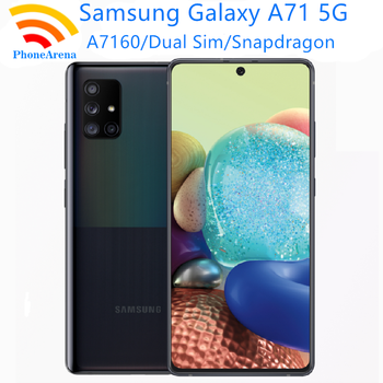 "Original Samsung Galaxy A71 5G 98%  Almost New Unlocked Dual Sim Cell Phones A7160 6.7"" 8GB+128GB ROM Snapdragon Octa Core NFC 1"