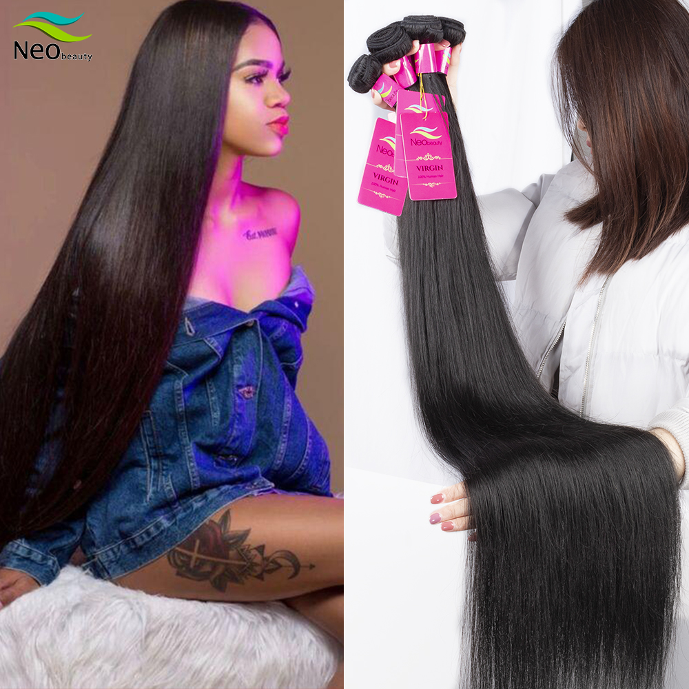 "8""-28"" 30 32 34 36 38 40 Inch Bundles Available 10A Hair Straight Virgin Brazilian Hair Weave Bundles"
