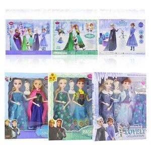 Disney Frozen 2 Doll Dress Frozen Snow Queen Princess Dolls Toy Fashion Casual Wear Handmade Cloth Outfits-Accessories Best DIY