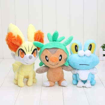 Kalos XY Elf Fennekin Chespin Froakie Plush Doll Movies TV Kunai Luma Eevee Cartoon Figure Stuffed Toys 20CM image