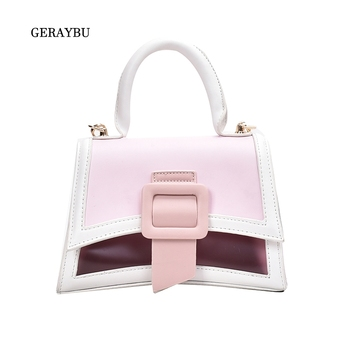 Fashion Women Handbag Square Youth Shoulder Bag Contrast Color Female Daily Bag Imitation Leather Personality Bag Small фото