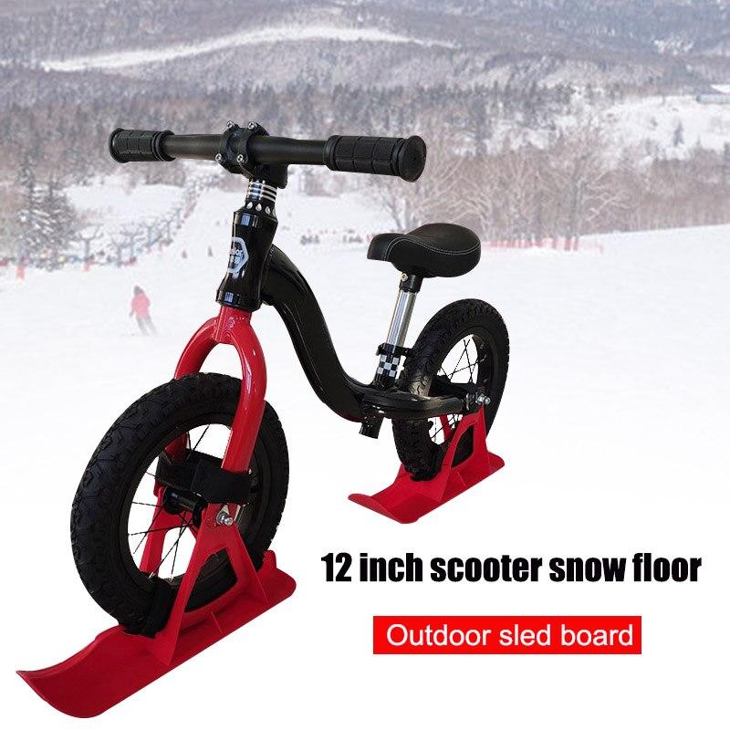 12in Kids Balance Bike Snowboard Sled Children Scooter Wheel Parts Snow Skiing Ski Board SAL99