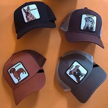 Новинка, хип-хоп кепка, сетчатая бейсболка, унисекс, с вышивкой животных, кепка s, для женщин и мужчин, бейсболка, папа, шляпа, летняя, Регулируемая Кость