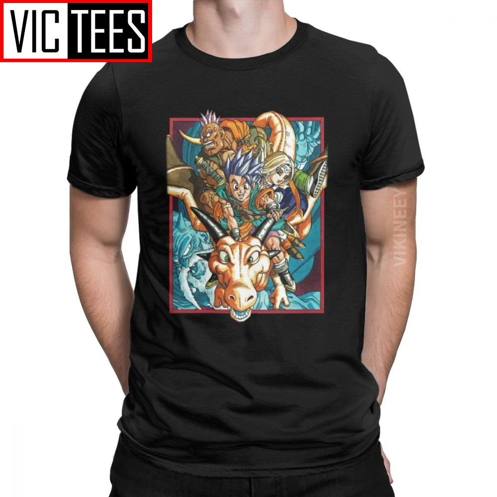 Awesome Dragon Quest Tshirt Men Cotton T Shirt Xi Rpg Game Toriyama Games Warrior Slime New Arrival Camisas Hombre image