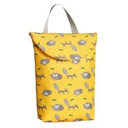 Hot New Multifunctional Baby Diaper Bags Reusable Fashion Waterproof Diaper Organizer Portable Big Capacity Mummy Bag|Składane torby do przechowywania|Dom i ogród -