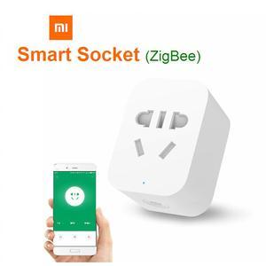 Image 1 - Xiaomi mi mijia zigbee soquete inteligente, wifi, app, controle sem fio, temporizador, plug para android, ios, funciona com mi home aplicativo de aplicativo