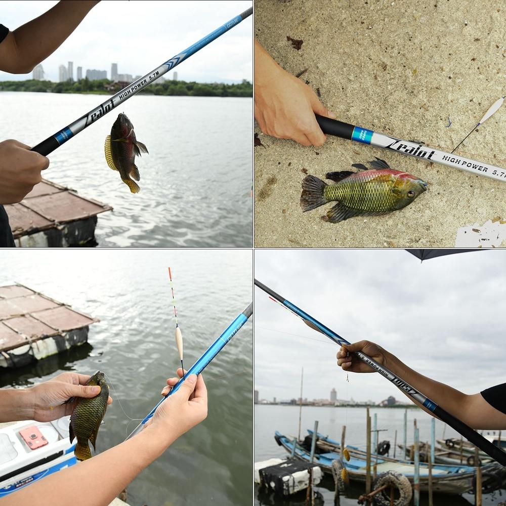 Image 2 - Goture Zealot Telescopic Fishing Rod Carbon Fiber 24T+30T 2.7 7.5M Carp Fishing Rod 2/8 Action Hard Hand Pole Stream Feeder RodFishing Rods   -