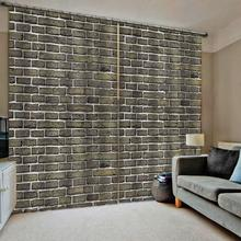 Blackout curtain wall bricek curtains for bedroom  window living room blackout