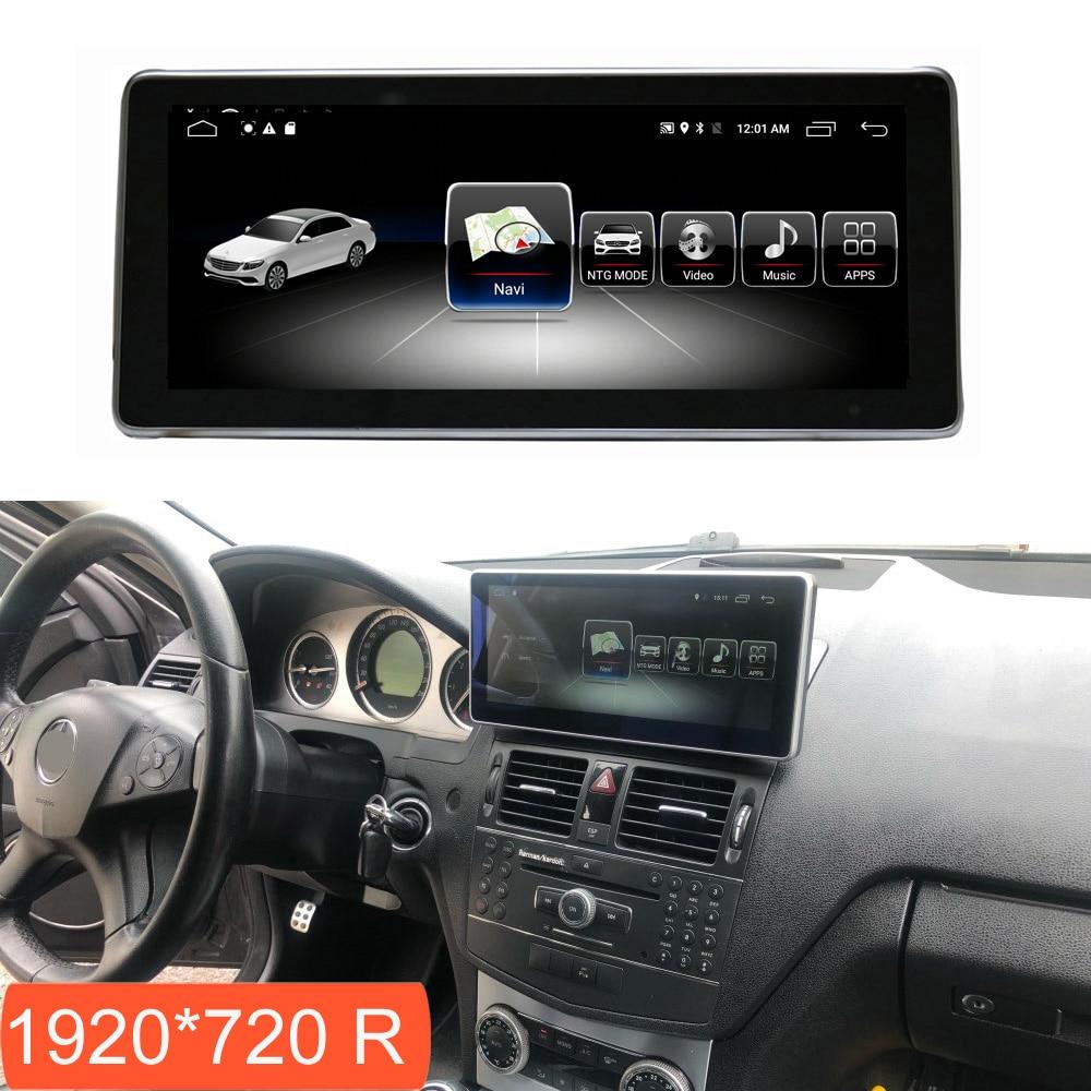 Pantalla táctil Multimedia Android 4 + 64G para Mercedes Benz Clase C W204 2008-2010 con Radio navegación GPS