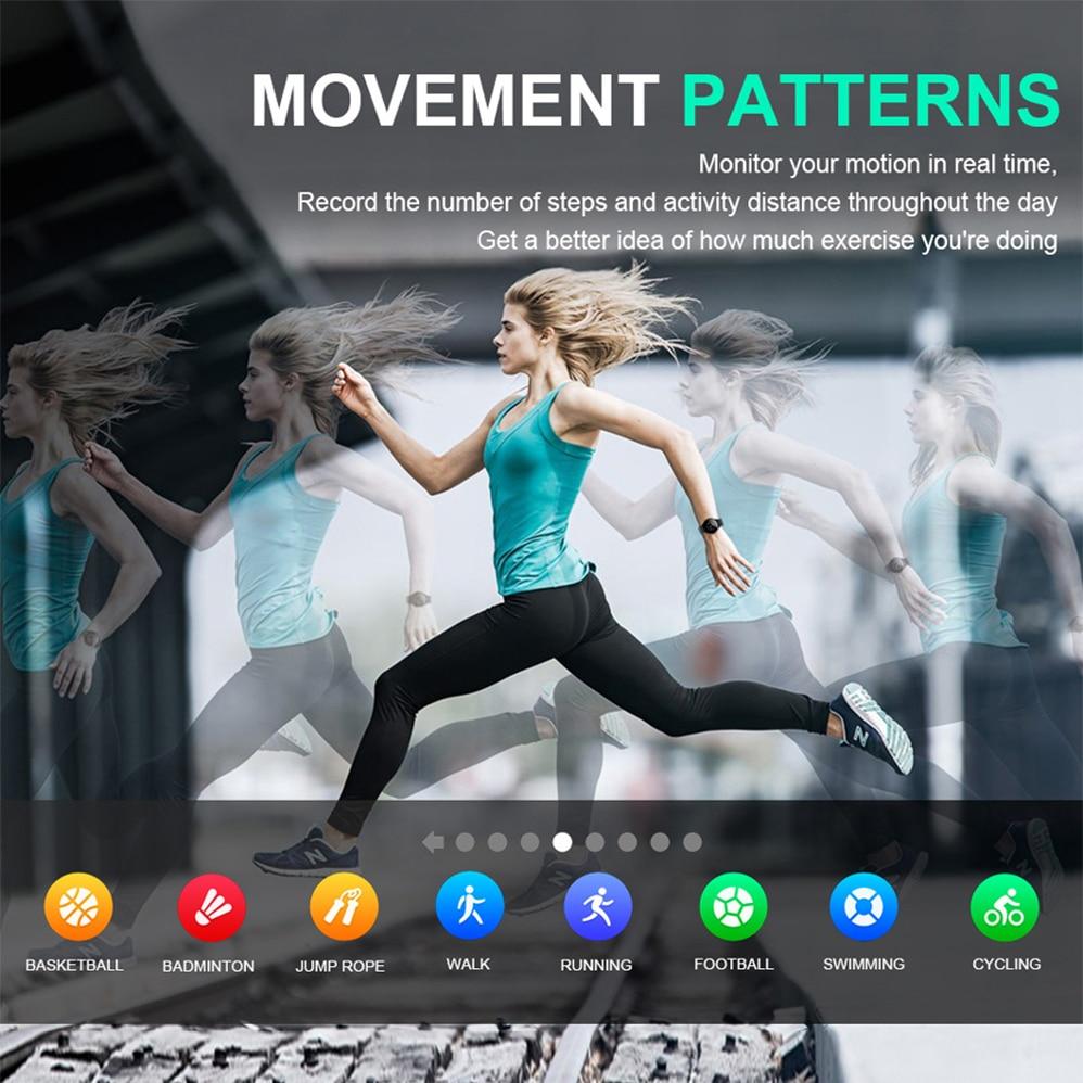 Lobsearch M31 montre intelligente plein écran tactile IP67 étanche plusieurs Sports Mode bricolage montre intelligente visage pour hommes et femmes Android et IOS - 4