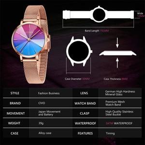 Image 3 - Ladies Watch CIVO 2020 New Listing Fashion Rainbow Watches Women Top Brand Luxury Waterproof Female Girl Gift Quartz Clock 8111