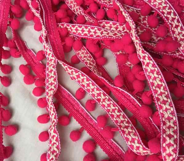 2,5 CM ancho bordado moderno oro lentejuelas flor encaje cinta DIY costura apliques collar Pom pom trim vestido de boda decoración