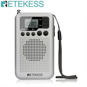 Retekess TR106 Portable FM AM Radio with LCD Display Digital Tuning Speaker Headphone Jack and Support Clock Function