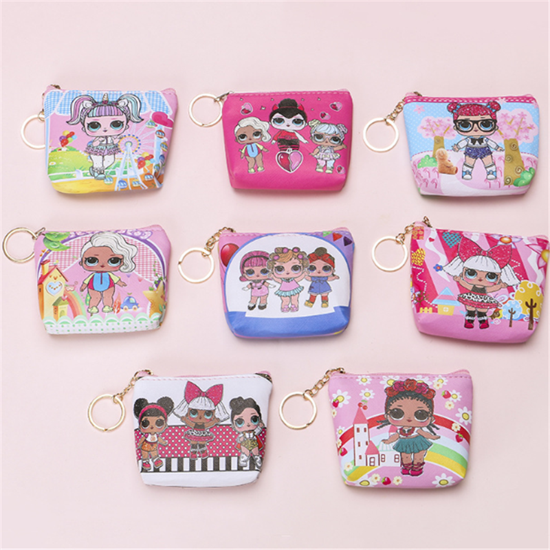 Vogvigo Cartoon Girl Coin Purses Women Wallets Small Card Holder Key Bag Money Bags For Girls Ladies Purse Kids Bag Organiser