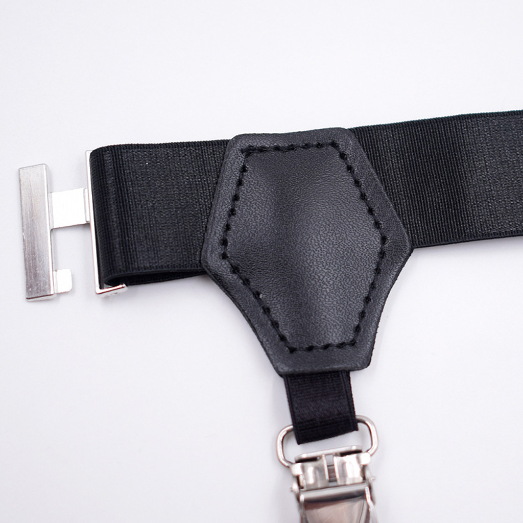 Men's Non-slip Sock Stay Garter Belt  Suspender Strap With Metal Clip