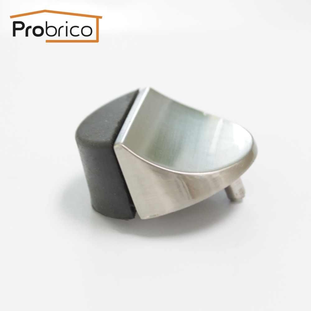 Probrico porte-butée de porte butoir de porte en caoutchouc protecteur attraper avec vis Mini porte tampon matériel mural au sol arrêt de porte
