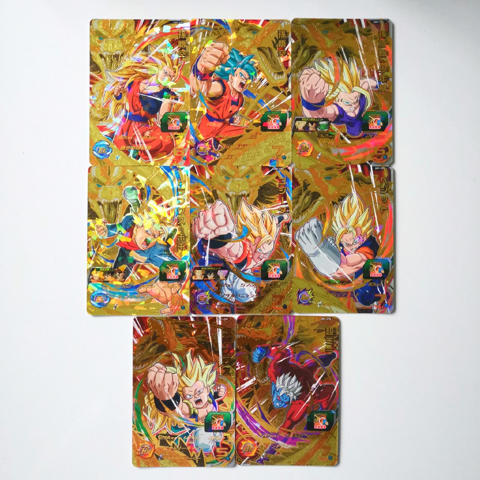 Japan Original Dragon Ball Hero Card UM1 Gogeta God Super Saiyan Goku Toys Hobbies Collectibles Game Collection Anime Cards