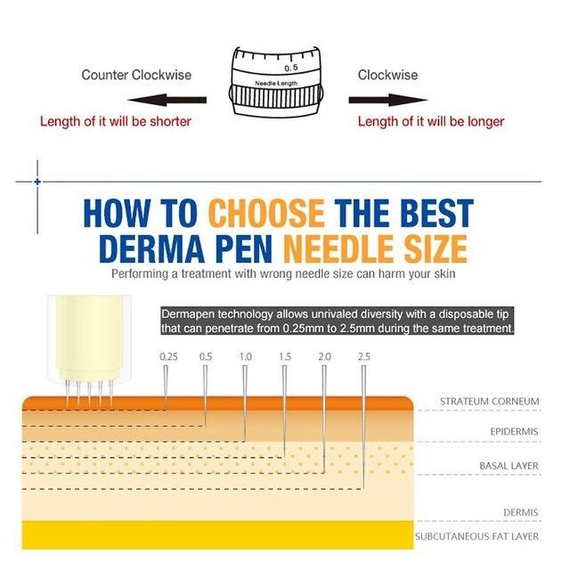 الكهربائية الدكتور القلم Ultima M5-C السيارات ديرما آلة مايكرو ديرما المتداول نظام العلاج القلم ل Facail العناية بالبشرة إبرة أدوات التجميل 5