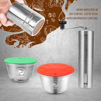 STAINLESS STEEL Metal Reusable Dolce Gusto Capsule Compatible with dolce gusto coffee Machine Refillable Reusable Dolci capsule Coffee Filters