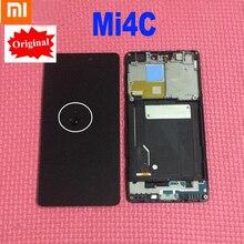 100% оригинальный новый протестированный рабочий ЖК дисплей, кодирующий преобразователь сенсорного экрана в сборе с рамкой для сенсорных деталей Xiaomi Mi4c Mi 4c M4c