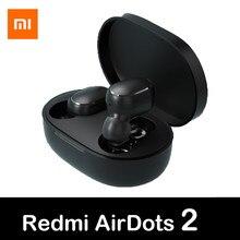 Xiaomi Redmi AirDots2 bezprzewodowy zestaw słuchawkowy Bluetooth 5.0 słuchawki douszne stereo bass Ture bezprzewodowe słuchawki douszne TWS