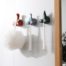 Hak ogon zwierzęcy hak kreatywny zabawy klucz hak parasol haczyk na ubrania silna łazienka wiskoza hak wieszak na klucze 3 sztuk tanie tanio CN (pochodzenie) Polyresin Cartoon zwierząt