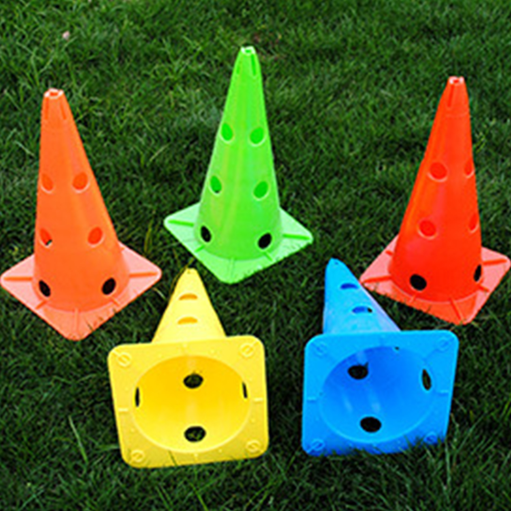 5 Pcs Eye-catching Sport Marker Stadium Skating Outdoor Football Barrier Eco-friendly Portable Rugby Durable Training Cones