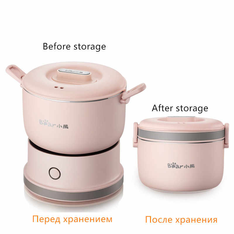 110-240V Available Portable Electric Multi Cooker Mini Electric Hot Pot For Travel School Office EU/AU/UK/US Plug