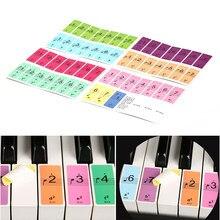 88 مفاتيح لوحة مفاتيح البيانو ملصقات الموسيقى ملصق مائي ملاحظة لوحة مفاتيح البيانو اسم الصوت ملصقات لوحة مفاتيح البيانو 1 set