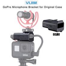 VIJIM GP 3 Vlog Battery Mic Adapter for Gopro 7 6 5 Cold Shoe Mount Adapter for Original Gopro Case