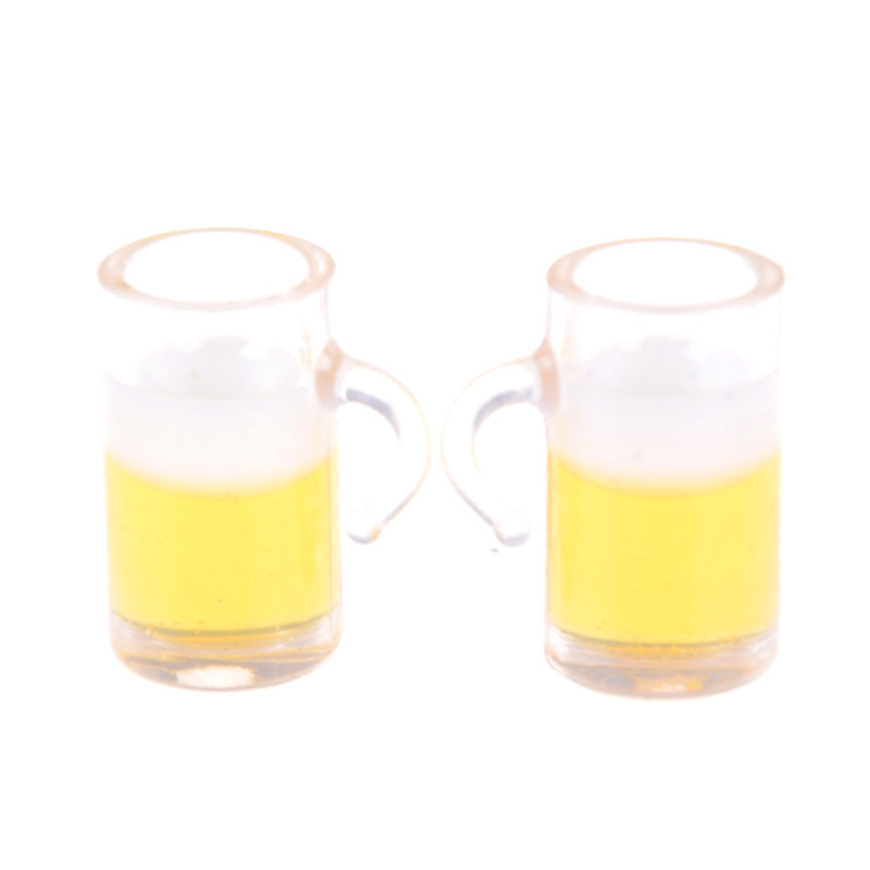 1:12 Dollhouse Miniatures Accessories Super Cute Mini Beer Cup Fast Food Toys Miniature Doll House Furniture 18*10mm