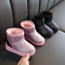 New Kids'Shoes In Winter Snow Boots Kids  Kids Boots Girls  Uggs Boots  Little Girl Shoes  Winter Boots for Boys все цены