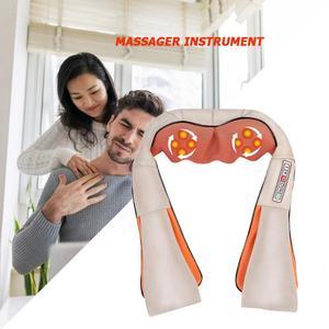 Image 5 - Masajeador eléctrico para el cuello, fabricación elaborada, Dispositivo de masaje para amasar hombro con calefacción infrarroja duradero, cuidado de la salud, Dropshipping
