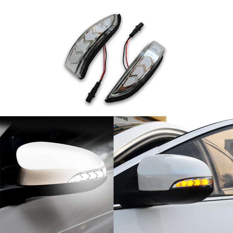 LED DRL Flowing Side Rear-view Mirror Dynamic Turn Signal Light Lamp  For Toyota Vios Altis Yaris Corolla Camry Accessories