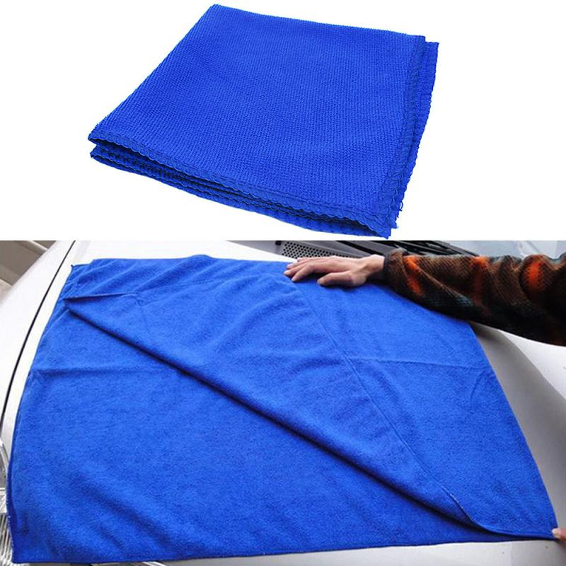 Towel Car Washing Clean Wash Cloth Absorbent Microfiber Home Kitchen 10Pcs Blue