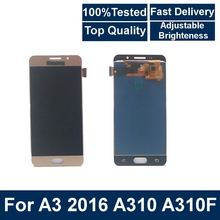 100% Tested For Samsung Galaxy A3 2016 A310 A310F A310H A310 LCD Display Touch Screen Digitizer Assembly With brightness control стоимость