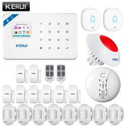 KERUI Home Security Alarm System W18 GSM WIFI Verbindung Mobile APP Erhalt Farbe Bildschirm Wireless Sicherheit Einbrecher Alarm Kit