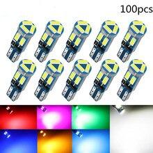 50PCS 100pcs T5 Led Bulb W3W W1.2W 4014 7SMD Car Wedge ashboard Bulb Auto LED Lamp Warming Indicator Wedge Instrument Light Bulb