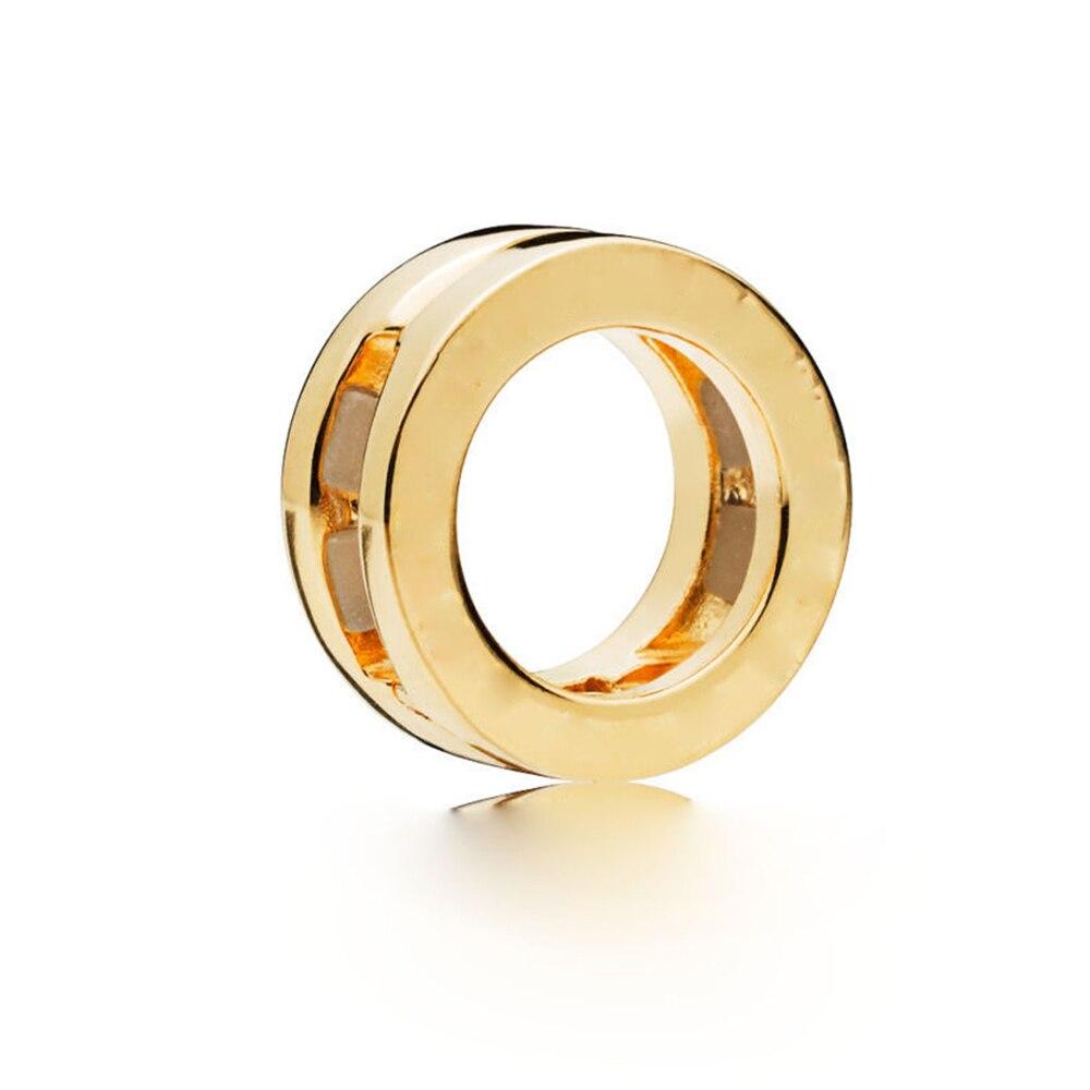 FEOLEO натуральная 925 пробы Серебряная скобка, очаровательные, подходят к оригиналу Pandora браслетов reflexions для Для женщин розового золота Цвет ювелирные изделия - Окраска металла: PAX015-B