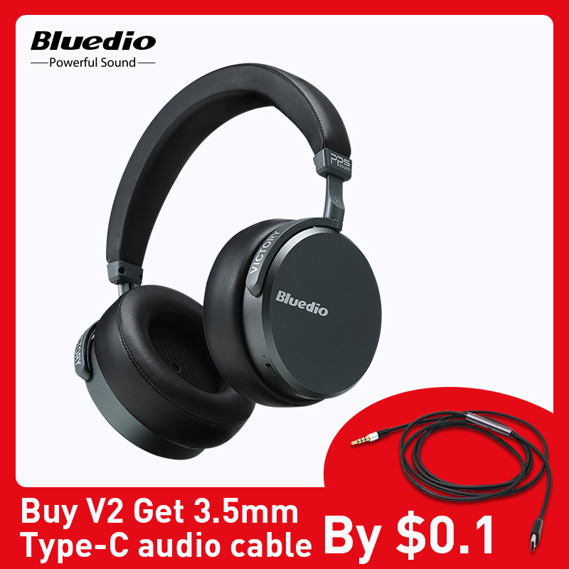 Bluedio V2 Wireless Headphones Bluetooth 5 0 Headset With Microphone For Cell Phone Over Ear Earphones Support Voice Control Bluetooth Earphones Headphones Aliexpress