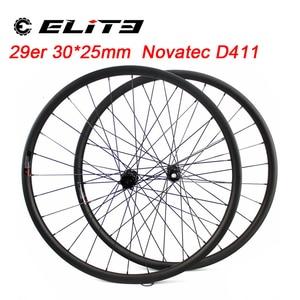 Image 1 - ELITE Carbon Wheels Carbon Mtb Wheels 29 Novatec D411 Straight Pull Hub Carbon Wheelset 29er Mtb Wheels 30mm Width Bicycle Wheel