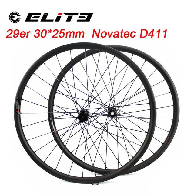 ELITE Carbon Wheels Carbon Mtb Wheels 29 Novatec D411 Straight Pull Hub Carbon Wheelset 29er Mtb Wheels 30mm Width Bicycle Wheel